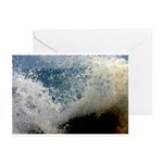 p2511. wavecrash, downcape  Greeting Cards (Packag
