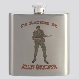 Rather Be Killing Commies Flask
