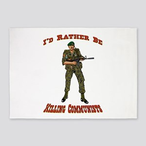 Rather Be Killing Commies 5'x7'area Rug