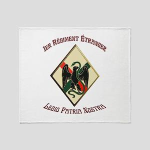 1st Regiment French Foreign Legion Throw Blanket