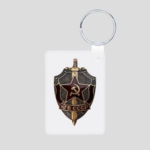 KGB Aluminum Photo Keychain