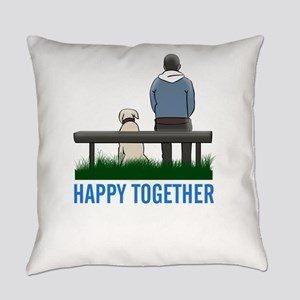 happy together Everyday Pillow