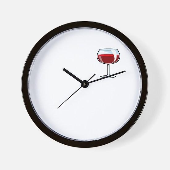 Wine and coffee Wall Clock