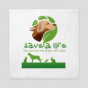 save a life Queen Duvet