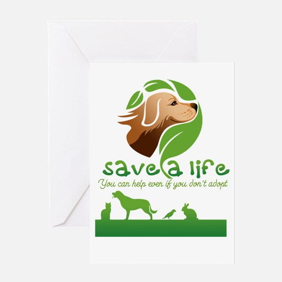 save a life Greeting Cards
