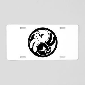 Peace Hands Yin Yang Aluminum License Plate