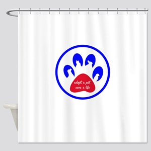 adopt a pet - save a life Shower Curtain