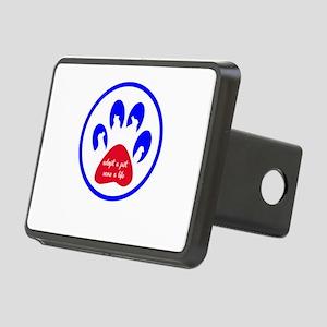 adopt a pet - save a life Rectangular Hitch Cover