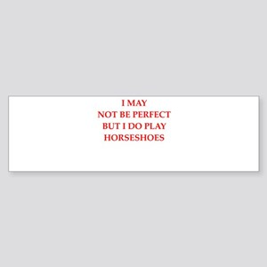 horseshoes Bumper Sticker