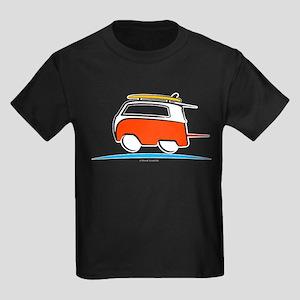 Red Shoerty Van Gone Surfing Kids Dark T-Shirt