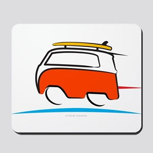 Red Shoerty Van Gone Surfing Mousepad