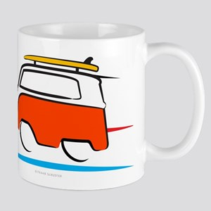 Red Shoerty Van Gone Surfing Mug