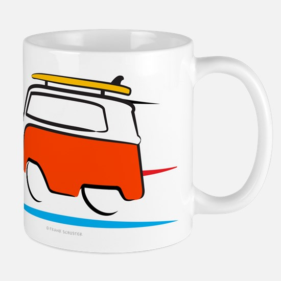 Red Shoerty Van Gone Surfing Mug