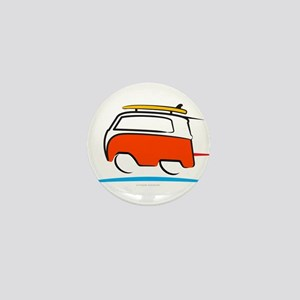 Red Shoerty Van Gone Surfing Mini Button (10 pack)