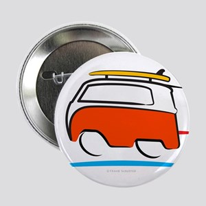 """Red Shoerty Van Gone Surfin 2.25"""" Button (10 pack)"""