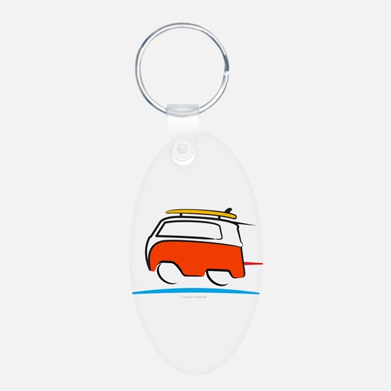 Red Shoerty Van Gone Surfin Keychains