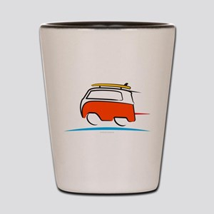 Red Shoerty Van Gone Surfing Shot Glass