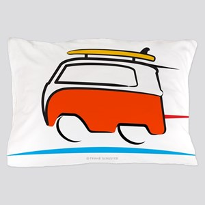 Red Shoerty Van Gone Surfing Pillow Case
