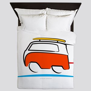 Red Shoerty Van Gone Surfing Queen Duvet