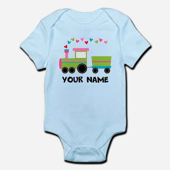 Personalized Valentine Train Body Suit