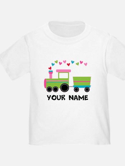 Personalized Valentine Train T-Shirt