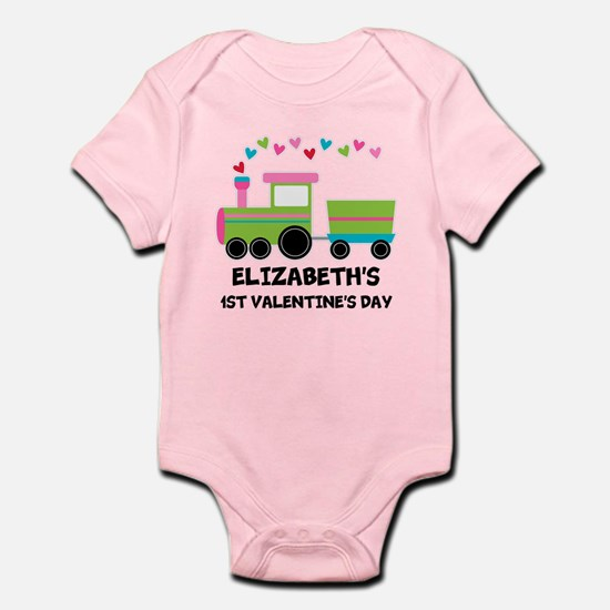 1st Valentines Day Personalized Body Suit