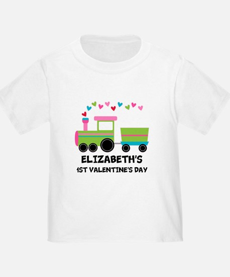 1st Valentines Day Personalized T-Shirt