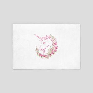 Unicorn and Roses 4' x 6' Rug