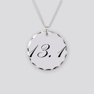 Half Marathon Necklace Circle Charm