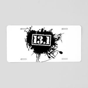 Half Marathon Aluminum License Plate