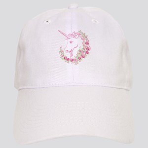 Unicorn and Roses Baseball Cap