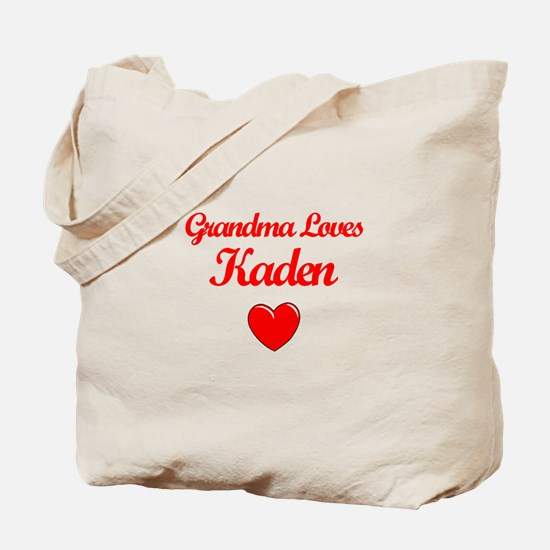 Grandma Loves Kaden Tote Bag