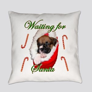 waiting for santa Boxer Everyday Pillow