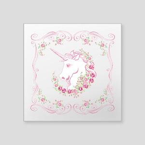 Unicorn and Roses Sticker