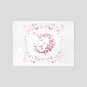 Unicorn and Roses 5'x7'Area Rug