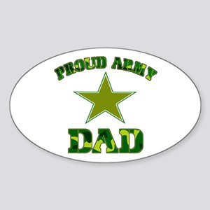 Proud Army Dad Oval Sticker