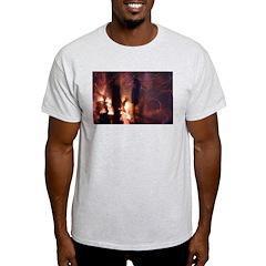 p2066. dusk conversation.. Ash Grey T-Shirt