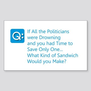 Politician Sandwich Sticker