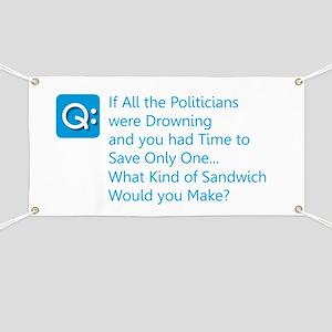 Politician Sandwich Banner