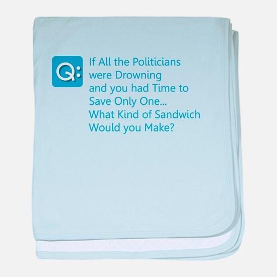 Politician Sandwich baby blanket