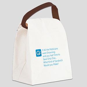 Politician Sandwich Canvas Lunch Bag