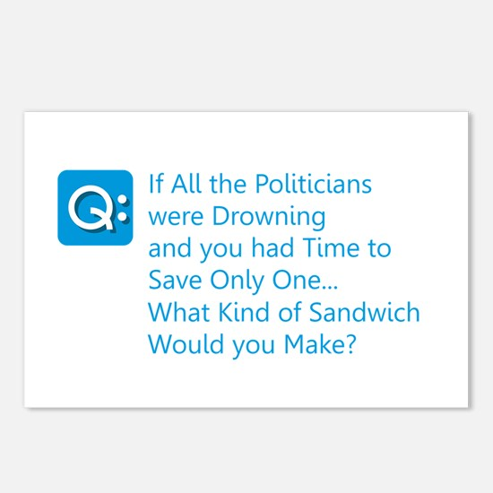Politician Sandwich Postcards (Package of 8)