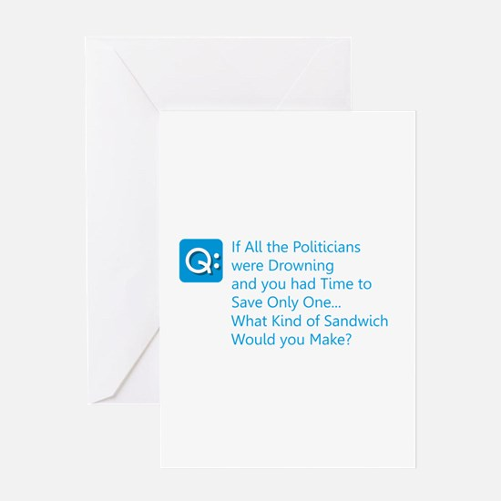 Politician Sandwich Greeting Cards