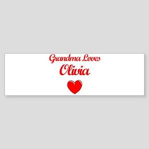 Grandma Loves Olivia Bumper Sticker