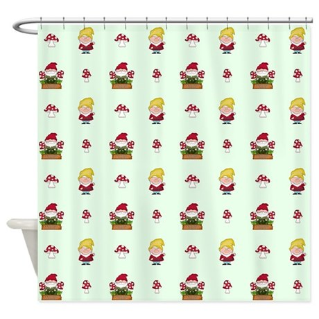 GNOME Shower Curtain By KidsRoomDecor