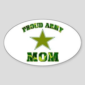 Proud army Mom Oval Sticker