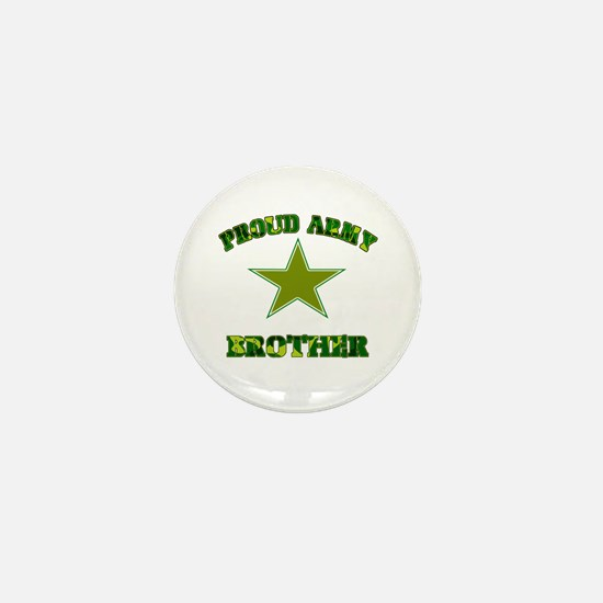 Proud Army Brother Mini Button
