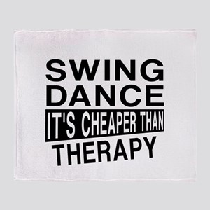 Swing Dance It Is Cheaper Than Thera Throw Blanket