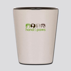 hand and paws Shot Glass