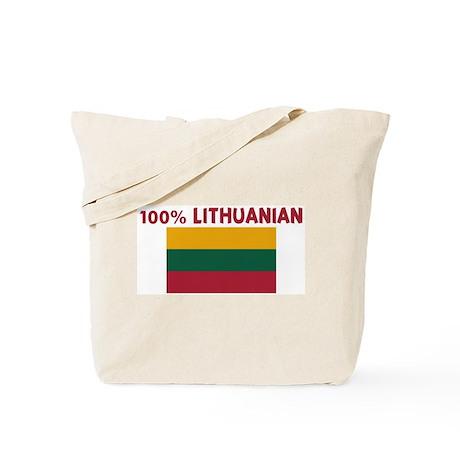 100 PERCENT LITHUANIAN Tote Bag